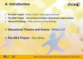 Dice project - drámával a kulcskompetenciák fejlesztéséért//Dice project  how drama develops key competences